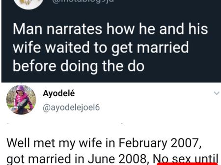 Man Reveals How Him And His Wife Did Not Have Sex Untill Days After Their Wedding Night