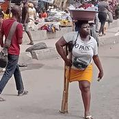 Latest reactions from Nigerians as a photo of a hawker with amputated limb hits online again