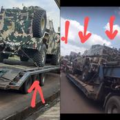 Checkout the type of Army Armored tanks allegedly heading to Lagos State