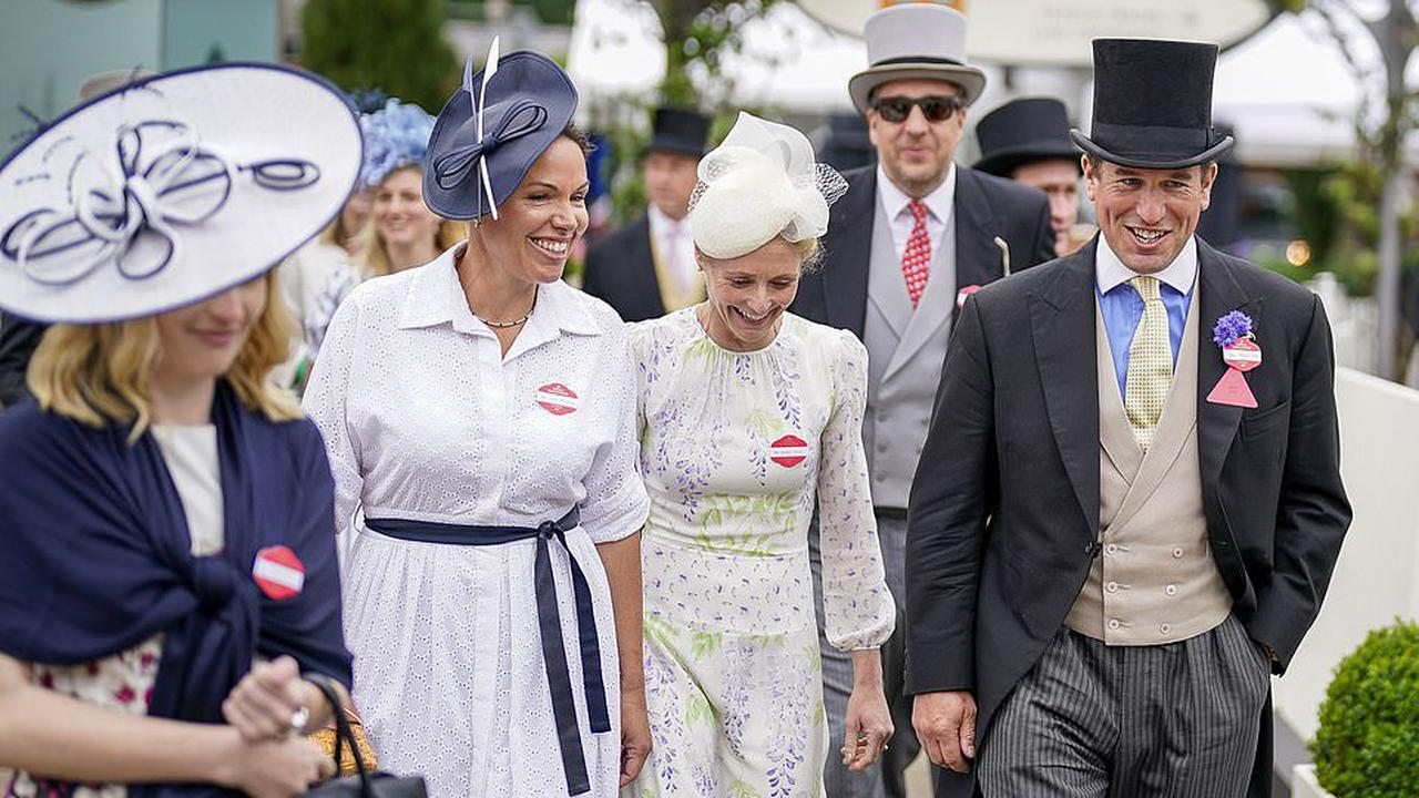 Peter Phillips is all smiles as he visits Royal Ascot for the second time this week after finalising his divorce to Autumn Phillips