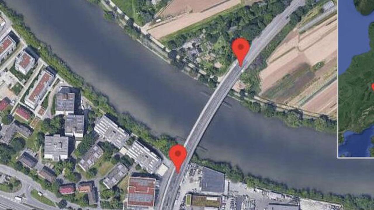 Esslingen am Neckar: Straßenarbeiten auf Hanns-Martin-Schleyer-Brücke