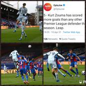 Reactions as Chelsea Star Player Kurt Zouma scores again