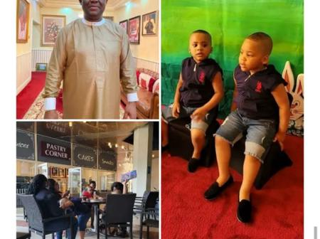 Fani Kayode Shows Off His 4 Children And Their Nanies Spending Time Together