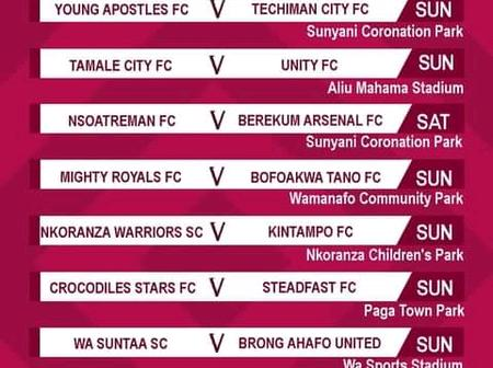 Here's the Matchday 14 fixtures in the ongoing DOL league this weekend