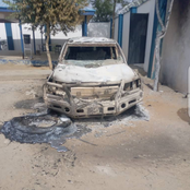 Boko Haram Is Demanding For War, Check Out What They Did To USA Vehicles And Building In Borno State