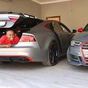 Dj Coach show off two Audi Cars