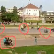 Serious Warning! If You Are In Abuja Stay At Home; See Video Of Armed Men On Okada (Bikes)