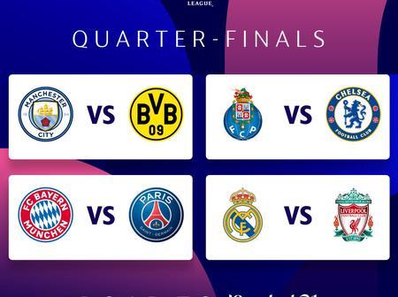 UEFA Champions League Draw For Quarter Finals