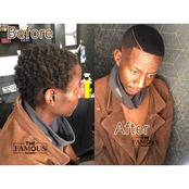 Look at How Homeless Man's Hair Was Transformed By A Barber, See photos
