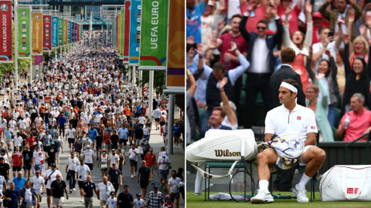 Wembley to host 45,000 fans & full house at Wimbledon despite 'Freedom Day' de