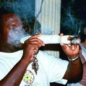 Photos Of Naira Marley, Fela, Tyson, Rihanna, And Others Smoking Foot-long Marijuana