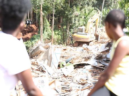 Panic as Woman and 7 Children Camp on a Grave After Their House Was Demolished
