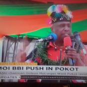 Gideon Moi BBI Camp Welcomed As AKing In W.Pokot; Tells Ruto He Has One Vote For Presidency (Photos)