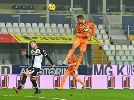 'Is it a bird or a plane'- Fans heaped praises on Ronaldo after wonderful goal against Parma