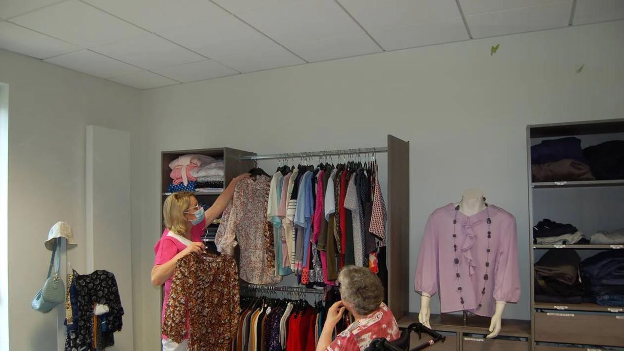 Une boutique de vêtements à l'Ehpad