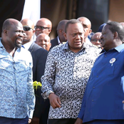 Raila Amolo Odinga And President Uhuru Kenyatta Today Meet At State House