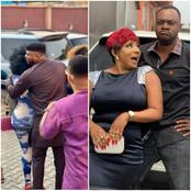 Omoborty shares pictures from set of a new movie with Odunlade, Mide Martins & others. (Photos)