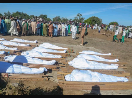 The 43 farmers killed by Boko Haram insurgency were laid to rest today
