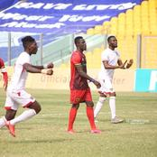 Kwame Poku misses a penalty in less than ten minutes into the Super Clash