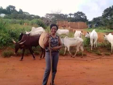 Have You Seen A 'Herdswomen' Before? Now Meet This Graduate Who Is A 'Herdswomen'