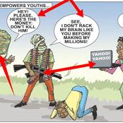 Cartoon Showing The Difference Between Bandits And Yahoo Boys Sparks Reactions Online