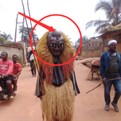 Photo: Look At What I Noticed On The Forehead Of This Masquerade That Has Sparked Reactions