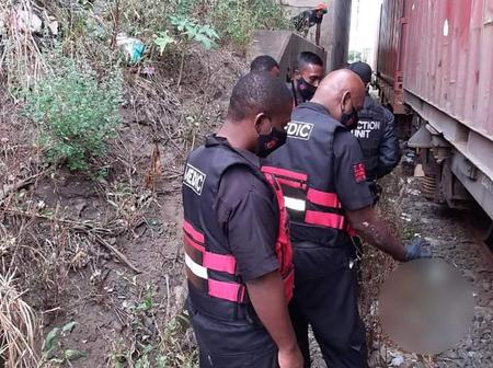 Two (2) men were decapitated by train on a railway line