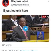Mbuyiseni Ndlozi has uncovered a video of president Cyril Ramaphosa telling the DA something