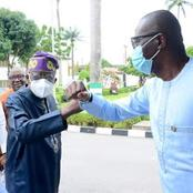 Amidst Rumors of Being in France, Tinubu Visits Sanwo-Olu in Lagos; Checkout What He Said