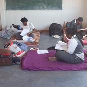 Matric learners camp at community school to regain lost months due to COVID-19. See pictures