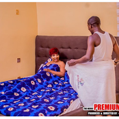See Photos Of Mide Martins With Odunlade Adekola, Others On Set Of Movie, Premium Babes