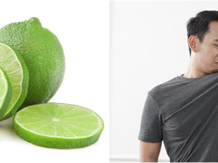 Treat 5 armpit problems naturally using lime, it's easy and safe