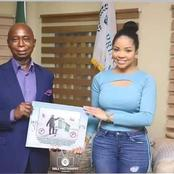 Mixed Reactions After Nengi Meet Billionaire Ned Nwoko At His Foundation