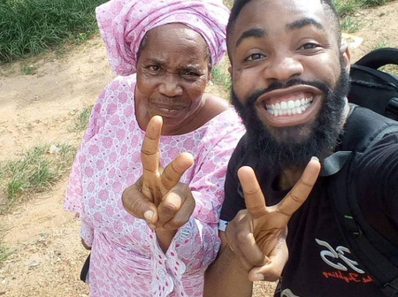 Popular comedian calls his mother his 'baby girl', as he shows her off on her birthday