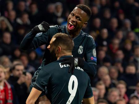 Vinicius Pays Tribute To Benzema For Taking Him Under His Wing.