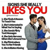 Signs that she really likes you