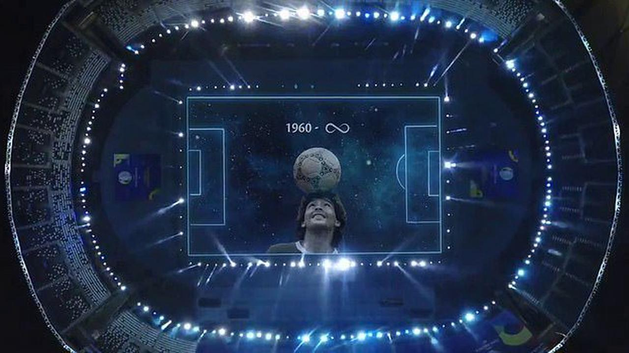 Argentina paid tribute to Diego Maradona with a stunning light display