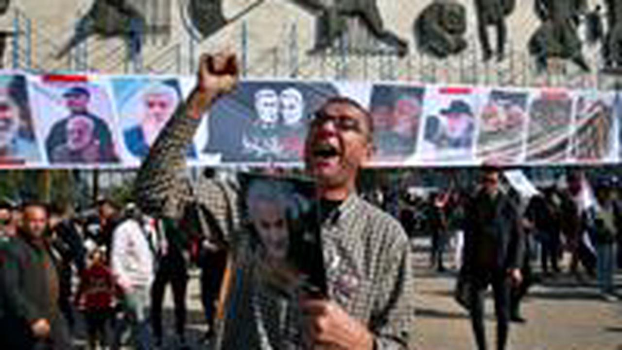 Rally in Baghdad marks 1 year since Iran general's killing