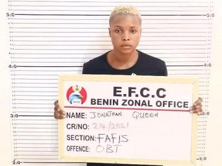 Reactions Sparked As EFCC Arrest A Female Suspect In Benin For Internet Fraud.