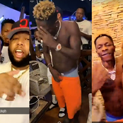 Shatta Wale party with D-Black and some fine bubble booty ladies at his ship house.[see pics]