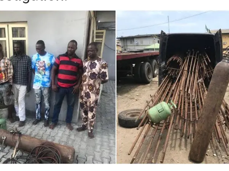 Brave Nigerian Lagos Police Arrests Suspects, Rejects N500,000 Bribe Offered By Them (See Photos)