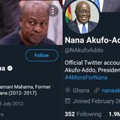 Nana Addo Overtakes Mahama In Their Twitter Accounts' Growth To 2 Million Followers