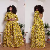 Beautiful Ankara Maxi Gown Styles For Beautiful Ladies