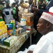 Governor Ganduje of Kano State Is A Man Of The People, Here Are Photos Of Him Taking Tea Publicly
