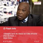 Assoa Adou : « Gbagbo sera de retour d'ici mi-mars »