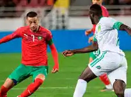 Reactions As Hakim Ziyech Recorded An Assist In Morocco's 3-1 Win Against Senegal.
