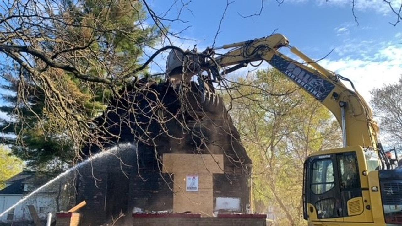 Calhoun County tears down home of murder investigation, multiple suspicious fires