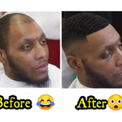 """""""Is this a Magic?"""" – Look at how this Barber transforms a Bald-Headed Guy into a Cute Man"""