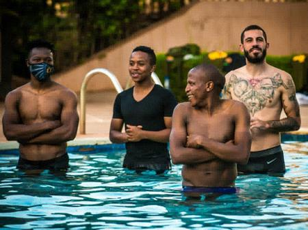 Check Out What Kaizer Chiefs Players Were Caught Doing Before The CAF Game