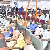 See What Was Noticed On The Freed Kagara Students That Attracted Reactions From People (Photos)